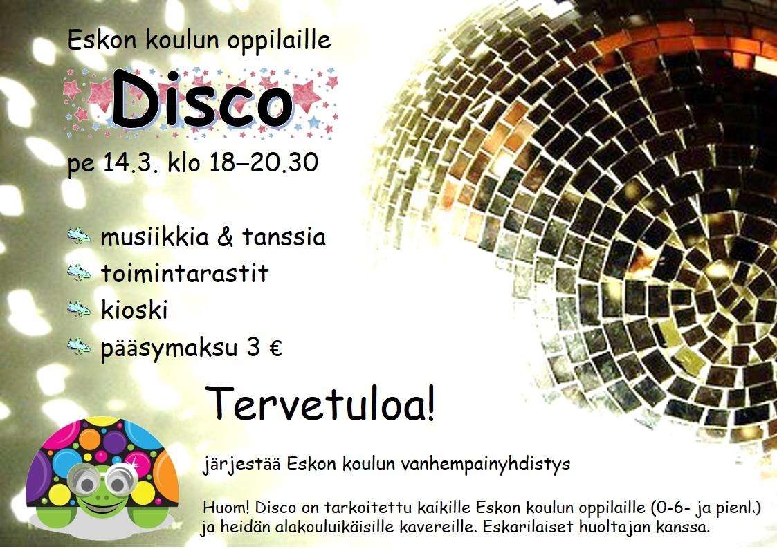 Disco 14.3.2014 klo 18-20.30